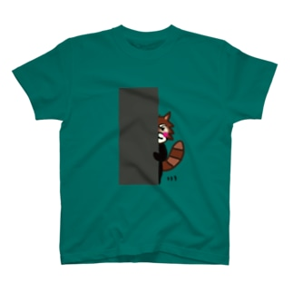 レッサーパンダのレッさん隠れバージョン T-shirts