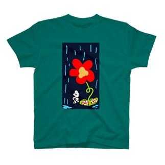 はなde雨宿りガッツ T-shirts