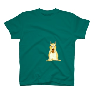 papricaのどんぐりとリス T-shirts