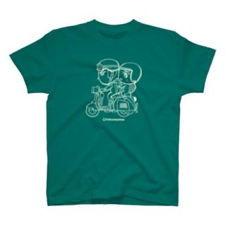 カッパつ野郎(スクーター白) T-shirts