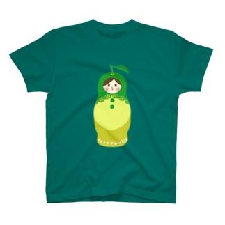 [九州・大分]かぼすマトリョーシカさん T-shirts