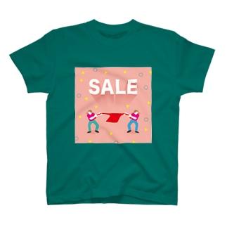 活気グラフィック「セール」 T-shirts