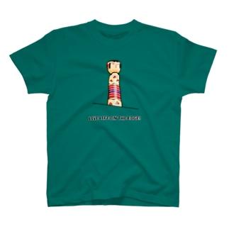KOKESHI-nglish : LIVE LIFE ON THE EDGE! T-shirts