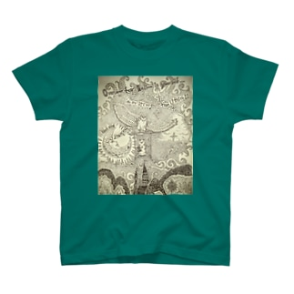 カエルのallex 空を飛ぶ T-shirts