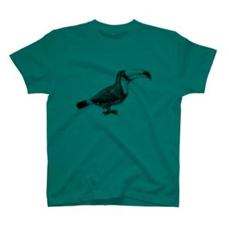オオハシ <アンティーク・プリント> T-shirts