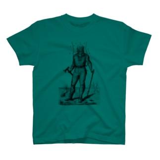 潜水服 <アンティーク・プリント> T-shirts