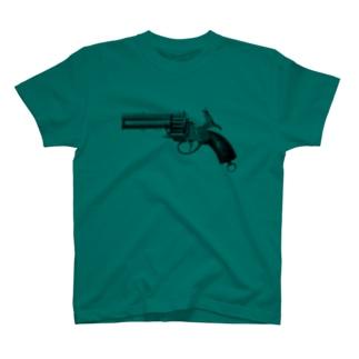 リボルバー <アンティーク・プリント> T-shirts