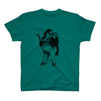 グランヴィル「象」 <アンティーク・プリント> T-shirts