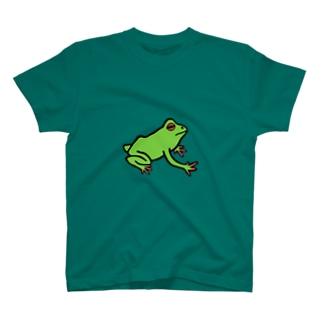 ぷりっぷりのボディがご自慢のカエル T-shirts