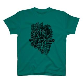 熊猫ブラック T-shirts