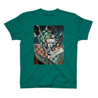 世界の絵画アートグッズのフアン・グリス 《チェックのテーブルクロスのある静物》 T-Shirt