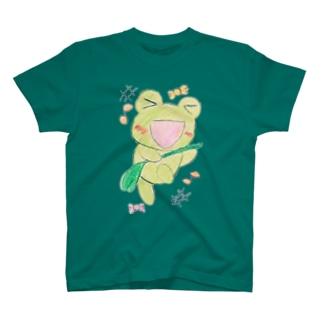 やんわり店舗(アリサ)のダンシングあめかえる T-shirts