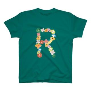 flowerアルファベットR T-Shirt