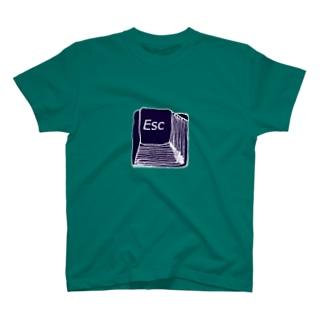 ユーモアデザイン「ESC」 T-shirts