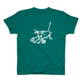 荒ぶる雄牛(Snorting Bull) T-shirts