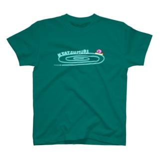 かたつむりTシャツ(文字水色) T-shirts