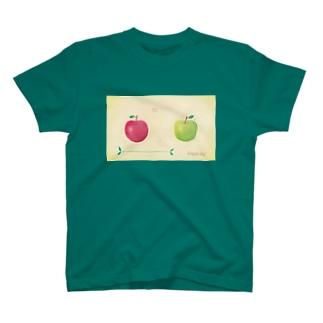赤りんごと青りんご T-shirts