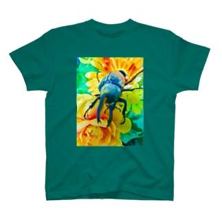 Higurashi430のカブトムシ ☆グラントシロカブト☆   Tシャツ T-shirts