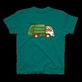 コメビツくんのザンパンくんのゴミ収集車 T-shirts