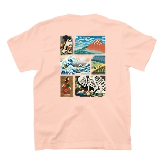 【バックプリント】 ドット浮世絵 T-shirts
