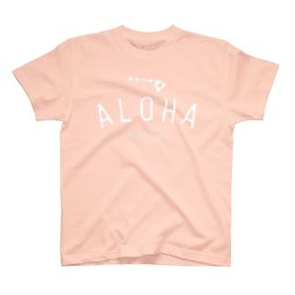 ALOHA ISLANDS  WHT LOGO T-shirts