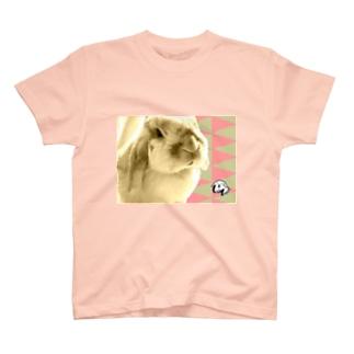 【uncle momo】たれ耳うさぎのモモおじさん T-Shirt