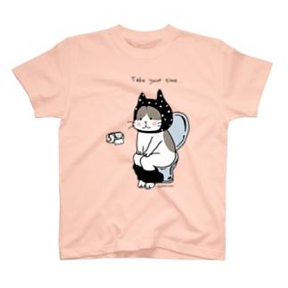 トイレねこ 黒 T-shirts