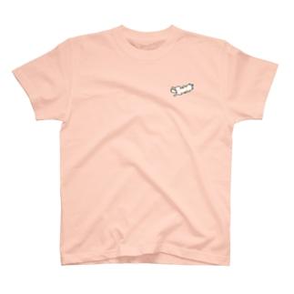おやすみ柴(赤柴) T-shirts
