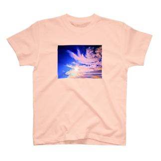 錆猫の館の鳳凰の舞い☆朱色 T-shirts