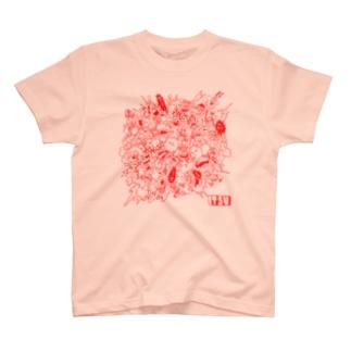 POKASUKA_red T-shirts