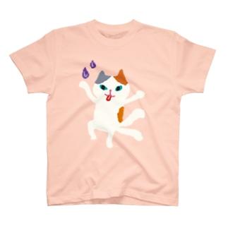 おばけ商店のおばけTシャツ<でっかい猫又> T-shirts