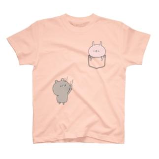 ラブカップルポケット♡うさぎ T-shirts