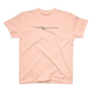 しまのなかまSLOW ヤツガシラ T-shirts