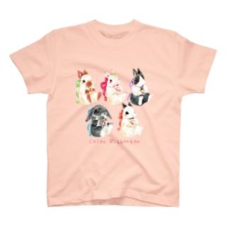 ぬいぐるみぎゅっ うさぎシリーズ T-shirts