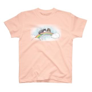 虹の橋のトロとクロ T-shirts