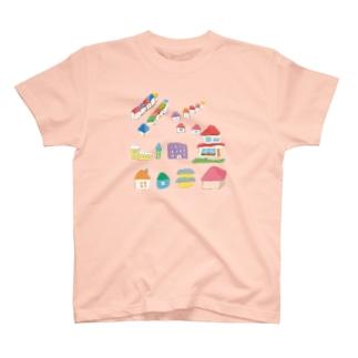 甲斐えるのブタ!ぶた!豚!のおうちがいっぱい T-shirts