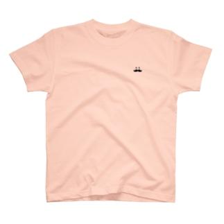 トシゾーのSUZURIのとこのヒゲ(黒)ワンポイント T-shirts