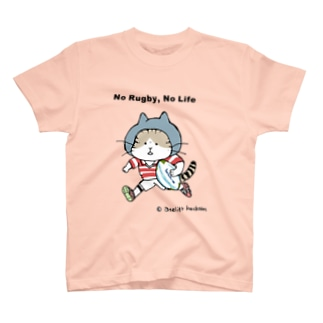 ほっかむねこ屋(アトリエほっかむ)のラグビーねこ(グレーキャップ) T-shirts