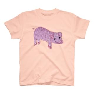 ネズボウのピンクのブタちゃん💖 T-shirts
