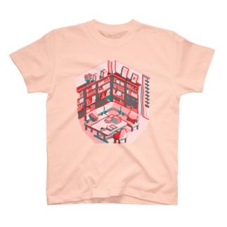 ド部屋 書斎 濃桃 T-shirts