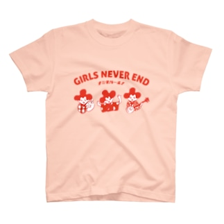 """GIRLS NEVER END"" Tシャツ 沖縄ガール T-shirts"