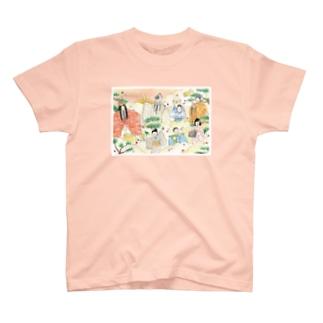 終わりなき世のめでたい老松 T-shirts