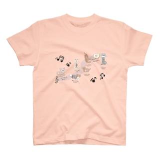 イヌたちの演奏会 T-shirts