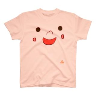飛び出せ ともSUN かお T-shirts