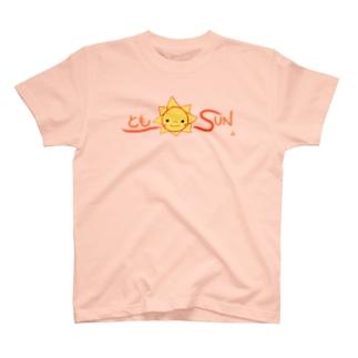 ともSUN ロゴ T-shirts