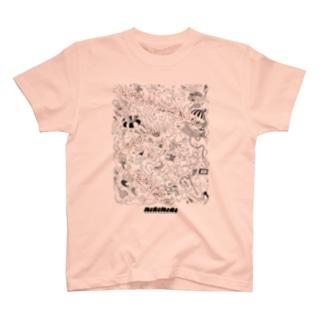 AQUARIUM CIRCUS -black line- T-shirts
