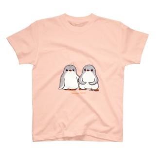 ふたごのジェンツーペンギン(ロゴあり) T-shirts
