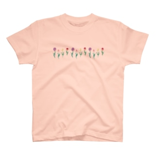 Asahi art styleのチューリップ T-shirts