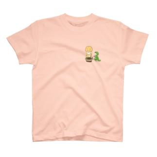 腹ペコサウルス T-shirts