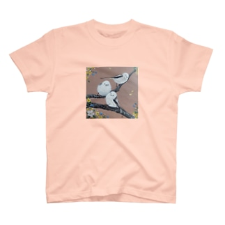 ふわふわシマエナガ♥トリオ T-Shirt